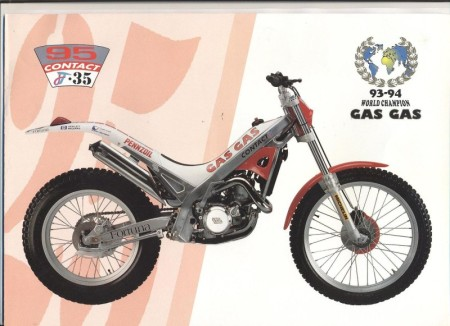 Gas Gas Trial Contact JT-35 1995